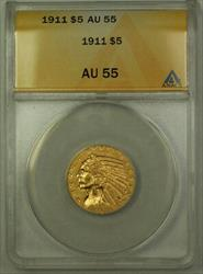 1911 $5 Indian Half Eagle   ANACS