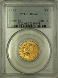 1913 $5 Five  Indian Head  Half Eagle PCGS (Better )