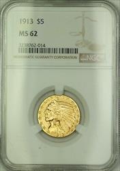 1913 $5 Indian  Half Eagle NGC (Better ) *See Description JMX