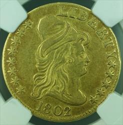 1802/1 Half Eagle $5   NGC