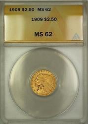 1909 $2.50 Indian  Quarter Eagle ANACS (Better ) DJ