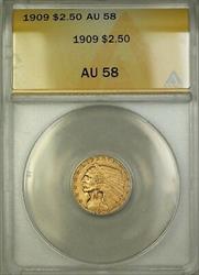 1909 $2.50 Indian Quarter Eagle   ANACS