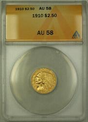 1910 Indian  Quarter Eagle $2.50  ANACS