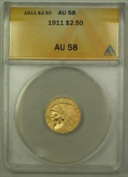1911 $2.50 Indian Quarter Eagle   ANACS