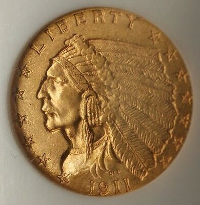 1911 D $2.50 Indian Quarter Eagle   NGC Very Choice UNC; KEY DATE