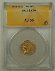 1911 US Indian Head  Quarter Eagle  $2.50 ANACS