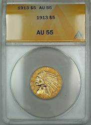1913 $2.50 Indian Half Eagle   ANACS (Better )