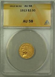 1913 $2.50 Indian Quarter Eagle   ANACS