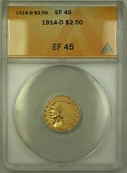 1914 D Indian  Quarter Eagle $2.50  ANACS