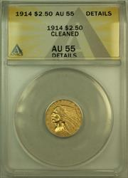 1914 Indian $2.50 Quarter Eagle   ANACS Details