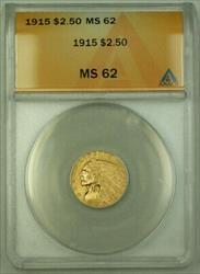 1915 $2.50 Indian Quarter Eagle   ANACS KRC