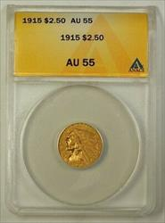1915 US Indian Head Quarter Eagle $2.50   ANACS Almost UNC
