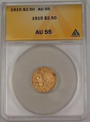 1915 US Quarter Eagle $2.50 Indian Head   ANACS B