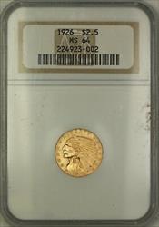 1926 $2.50 Indian Quarter Eagle   NGC Very Choice BU KRC