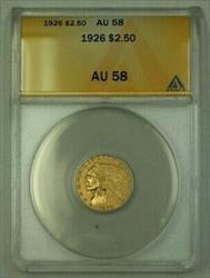 1926 US Indian Head  Quarter Eagle  $2.50 ANACS