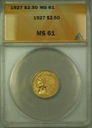 1927 Indian Head Quarter Eagle $2.50  ANACS