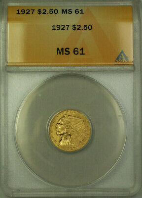 1927 Indian Head Quarter Eagle $2.50  ANACS