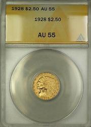 1928 $2.50 Indian Quarter Eagle   ANACS (B)