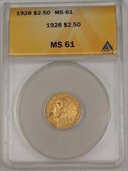 1928 US Indian Head Quarter Eagle $2.50   ANACS