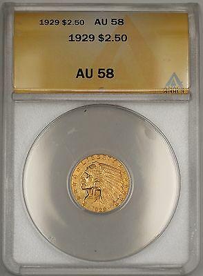 1929 $2.50 Indian Quarter Eagle   ANACS WW