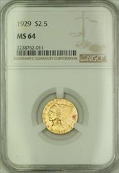 1929 $2.50 Indian Quarter Eagle   NGC  *See Description* JMX (B)