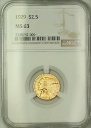 1929 $2.50 Indian Quarter Eagle   NGC Choice BU *See Descrip JMX