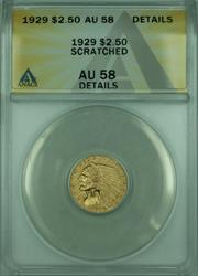 1929 Indian Quarter Eagle $2.50   ANACS Details