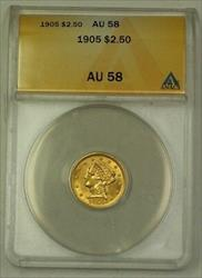 1905 $2.50 Liberty Quarter Eagle   ANACS Great Luster (Better)