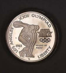 1983 S Olympic Proof Silver Dollar Commemorative Coin No Box or COA