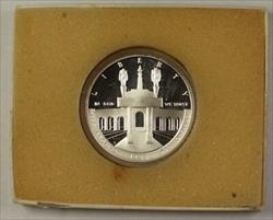 1984 US Olympic Commemorative Proof Silver Dollar $1 Coin as Issued With COA
