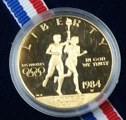 1984 W $10 Gold Eagle Proof Olympic Commemorative Coin OGP