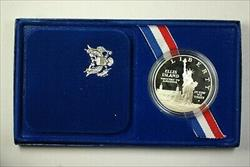 1986 S Mint Statue of Liberty Commemorative Silver Proof UNC Dollar Coin