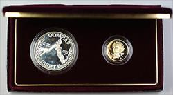 1988 Olympic 2 Proof Coin Commemorative Set, In Box, No COA