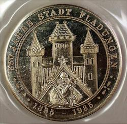1335-1965 650 Years of Fladungen German City State Silver Uncirculated Medal