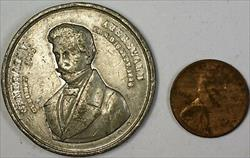 1792-1848 General V Auerswald German Death Angel White Pewter Angel Medal