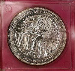 1814-1964 Star Spangled Banner 150th Anniversary Gem Proof  Silver Medal