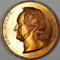 1826 German Ioh Wolfgang Von Gothe Brilliant Uncirculated Brass Medal