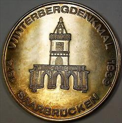 1874- 1939 Gem Proof Winterbergdenkmal German Taler Silver Medal Nicely Toned