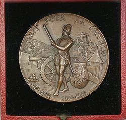 1887 Geneva Switzerland Swiss Shooting Medal R628d in Case