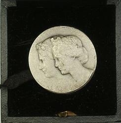 1887 Zurich Switzerland Silver Swiss Shooting Medal R1793d in Original Case