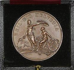 1890 Frauenfeld Switzerland Swiss Shooting Medal R1250 in Original Case