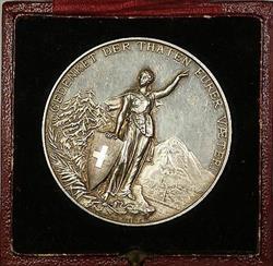 1892 Glarus Switzerland Silver Swiss Shooting Festival Medal R808b in Case