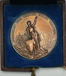 1892 Glarus Switzerland Swiss Shooting Medal R808 in Original Damaged Case