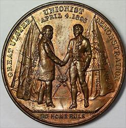 1893 Ulster Unionist United Kingdom Demonstration BU Brass Medal