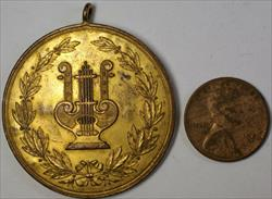 1894 Germany Immendorf Singing Festival with Loop Brass Award Harp Medal