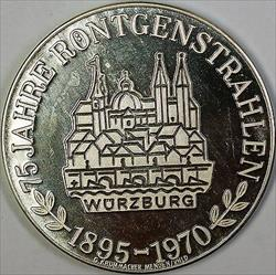 1895-1970 75 Years of German State Rontgenstrahlen Conrad BU Silver Medal
