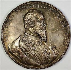 1897 Luitpold Przregent V. Bayern Massive German Silver Scarce Heavy Medal