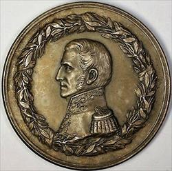 1901 San Martin Peru and Chile Liberation Commemorative Silver Medal Burzio 208d