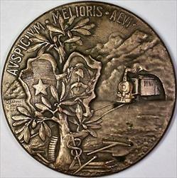 1903 Buenos Aires Los Delegados del Gobierno de Chile Commemorative Silver Medal