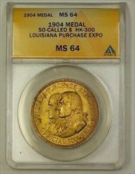 1904 Louisiana Purchase Exposition Bronze Medal HK-300 So-Called $ ANACS